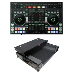 ROLAND DJ-808 Serato DJ Controller Bundle with XS-DJ808WLTBL Black Flight Case DJ-808 Bundle with Black Flight Case
