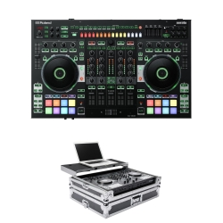 ROLAND DJ-808 Bundle with Serato DJ Controller + FREE Magma Case DJ-808 BUNDLE -CHROME/BLACK