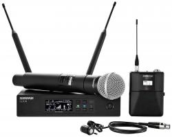 SHURE QLXD124/85-H50 Digital Handheld/Lavalier Combo Wireless Microphone System 534-598 MHz QLXD124/85-H50