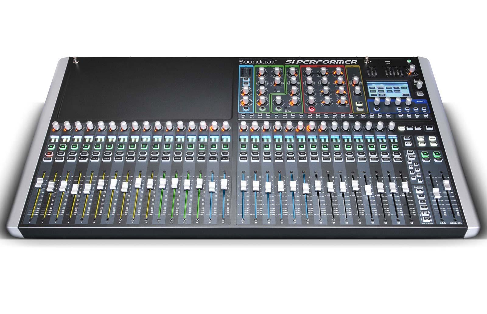 soundcraft si performer 3 32 channel digital live sound mixing console agiprodj. Black Bedroom Furniture Sets. Home Design Ideas