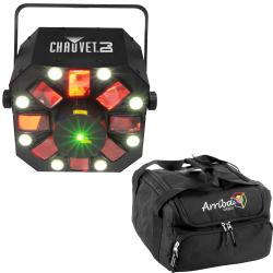 CHAUVET DJ SWARM 5 FX Bundle with Rotating Derby Light + Arriba Padded Bag SWARM 5 FX BUNDLE