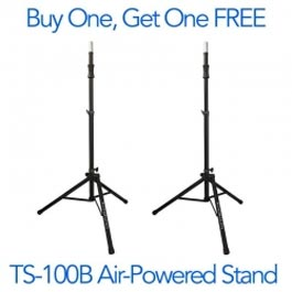 Buy one, get one free - ULTIMATE SUPPORT TS-100B Tripod Stands