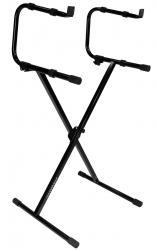 ULTIMATE SUPPORT IQ-1200 Two-Tier Single Braced Keyboard Stand IQ-1200