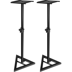 ULTIMATE SUPPORT JS-MS70 Adjustable Studio Monitor Stand Pair Black JS-MS70 MONITOR STANDS (PAIR)