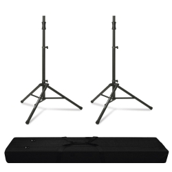 ULTIMATE SUPPORT TS-100B Tripod Stands PAIR DELUXE Bundle with Bag *Buy One Get One Special* TS-100B Buy One Get One Free Deluxe Bundle