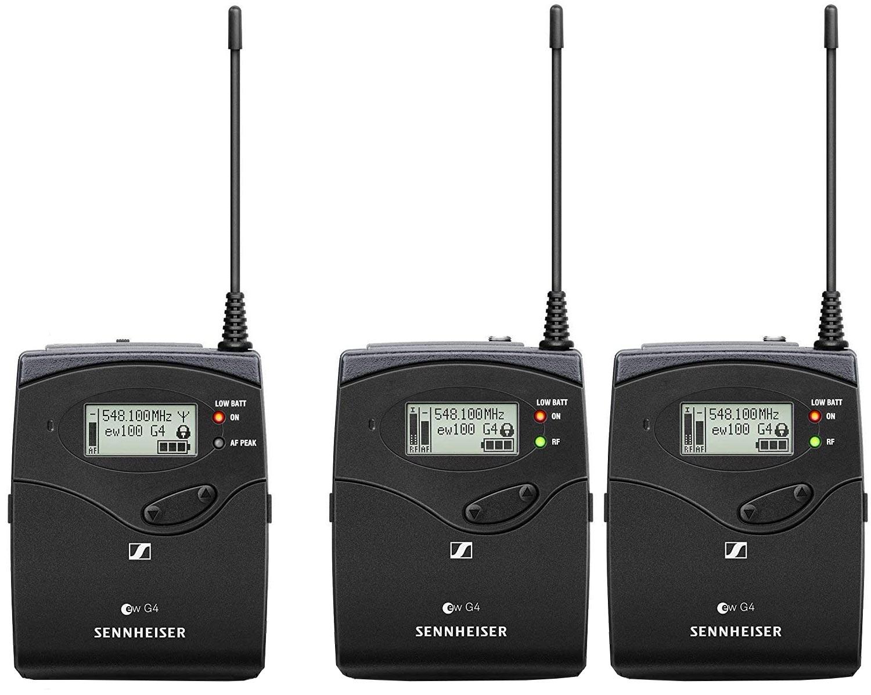 SENNHEISER Wireless Speaker System 10 - One Bodypack Transmitter, Two  Portable Receivers
