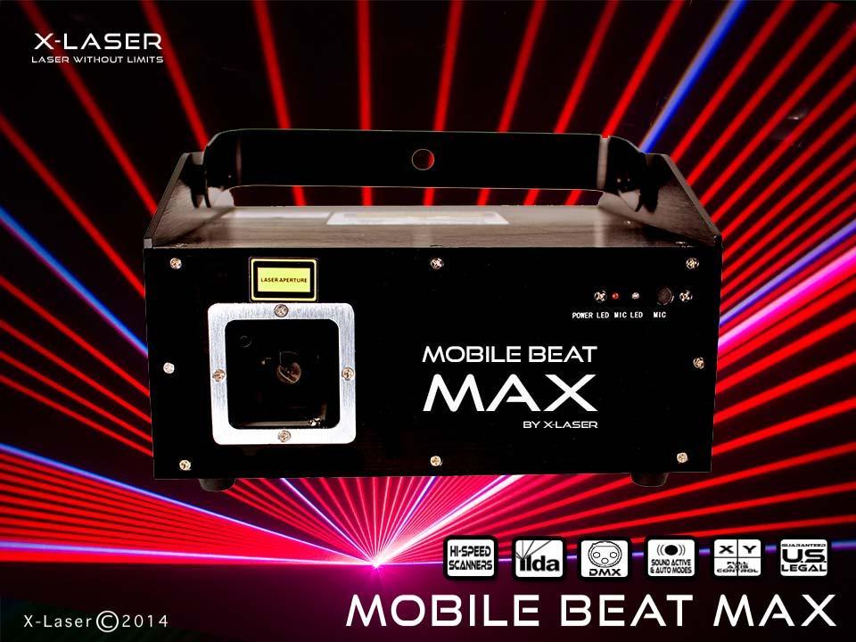 x laser mobile beat max 1w rgb full color aerial. Black Bedroom Furniture Sets. Home Design Ideas