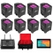 CHAUVET DJ 8 FREEDOM PAR HEX-4 BUNDLE + FLARECON AIR - BRLPAR BAG & ANDROID TABLET